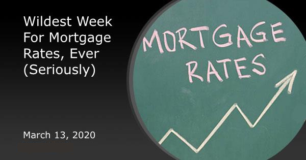 Wildest Week For Mortgage Rates, Ever (Seriously)