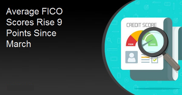 Average FICO Scores Rise 9 Points Since March