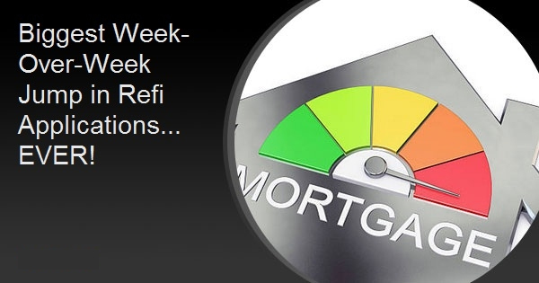 Biggest Week-Over-Week Jump in Refi Applications... EVER!