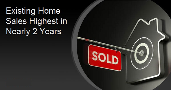 Existing Home Sales Highest in Nearly 2 Years