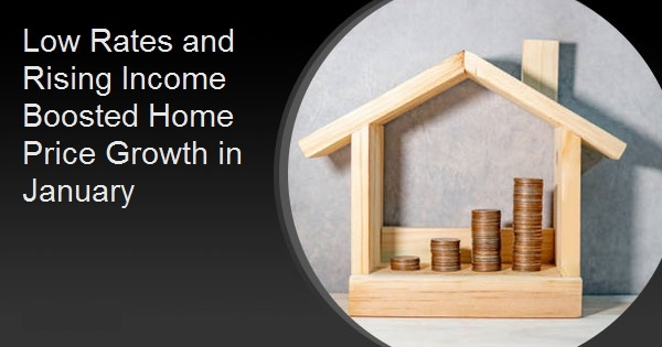 Low Rates and Rising Income Boosted Home Price Growth in January