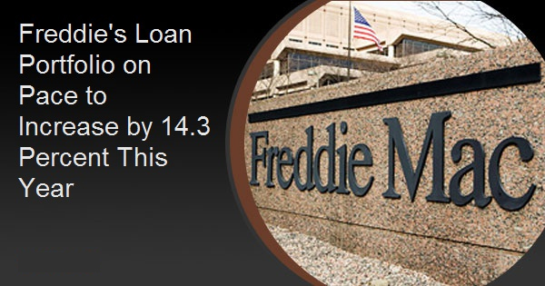 Freddie's Loan Portfolio on Pace to Increase by 14.3 Percent This Year