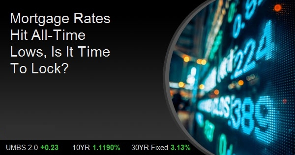 Mortgage Rates Hit All-Time Lows, Is It Time To Lock?