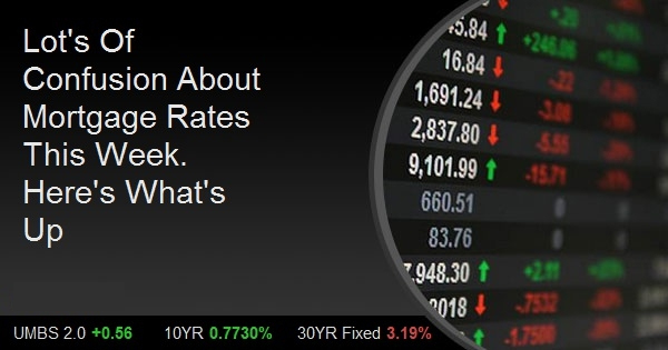 Lot's Of Confusion About Mortgage Rates This Week. Here's What's Up
